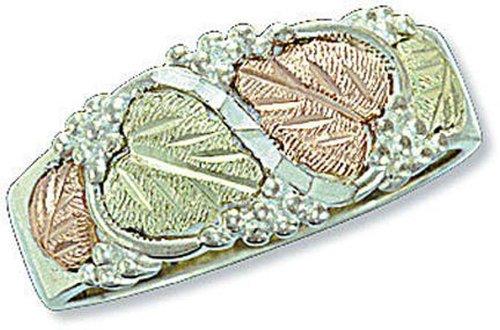 Landstroms Mens Wedding Ring - Landstroms Mens Black Hills Silver Wedding Ring and Black Hills Leaves - 02322SS