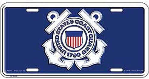 U.S Coast Guard Logo Semper Paratus License Plate