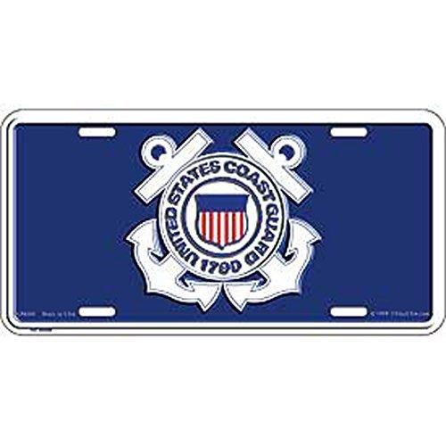 - US Coast Guard Logo License Plate