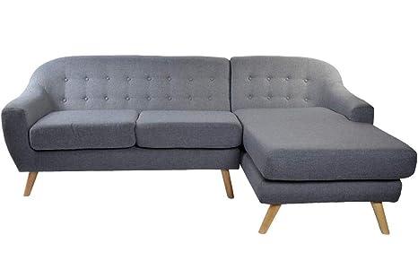 SuenosZzz- Sofa Poliester Madera chaislongue de 3 plazas ...