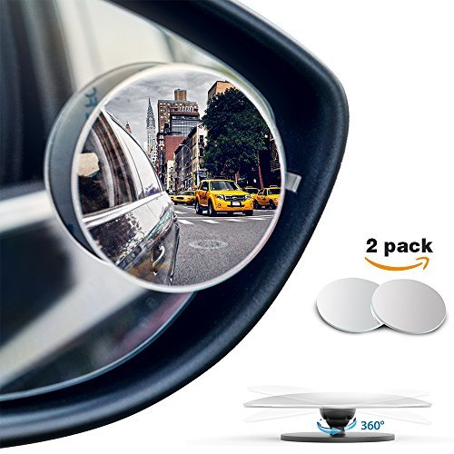 Ford Blind Spot Mirror - MICTUNING Blind Spot Mirror Frameless Convex HD Glass Wide Angle 360° Rotation Rear View Mirror, Pack of 2