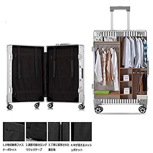 a0f657c4ad Amazon | 東京2020大会提携 アルミ スーツケース アルミ・マグネシウム合金 軽量 静音 TSAロック搭載 スーツケース アルミ |  スーツケース