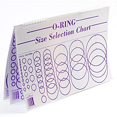 Small Parts O Ring Sizing Chart Laminated 3 Sheets Paper And