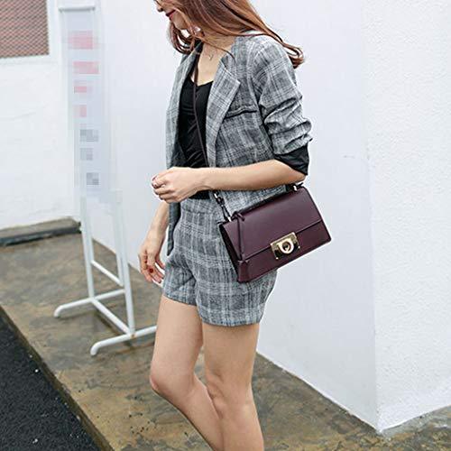 D Tendenza Serratura Moda Donna Borse Tracolla Quadrata c Nuova Borsa Da A Handbag Selvaggia Piccola xF060