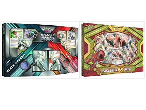 Pokemon Trading Card Game Scizor EX Box and Black Kyurem vs White Kyurem Battle Decks Collection Bundle, 1 of (Kyurem Box)