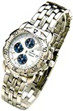 Oskar Emil Gents Caesium 1119G Steel Chronograph Sports Watch with White Dial RRP $425