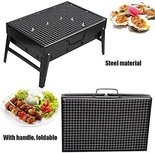 Barbecue HZY BBQ léger Pliant Portable Grill, Facile à Assembler et Propre, Parfait for Camping en Plein air Pique-Nique Cuisiner Randonnée 35 * 27 * 20CM