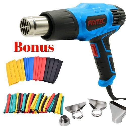 2018 JUST RELEASED Heat gun 1500W 662℉~1022℉ (350℃~550℃) with Heat Shrink Tubing Four Nozzle Attachments for Removing Paint, Bending Pipes, ShrinkingHeat Gun Heat Shrink Wrap by Conquer Life