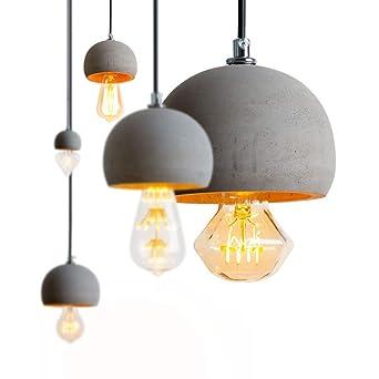 Addison Vintage Pendelleuchte E27 Beton Lampe Pendellampe Esstisch
