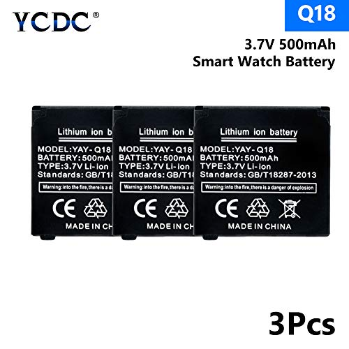- 3.7V 500mAh Spare Rechargeable Li-ion Polymer Battery for Smart Watch Q18 X3
