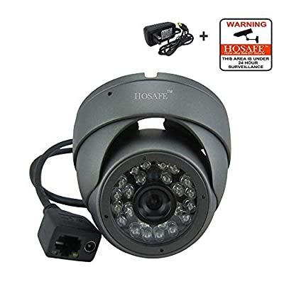HOSAFE 1MD1 1.0 Megapixel HD IP Camera, 1280x720P Outdoor Dome Camera, Metal Housing, ONVIF support Blue Iris and Dahua Hikvision NVR