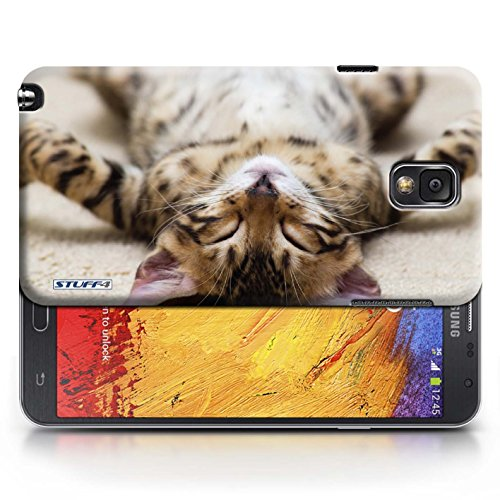 Coque en plastique pour Samsung Galaxy Note 3 Collection Chatons mignons - Chaton Parasseux
