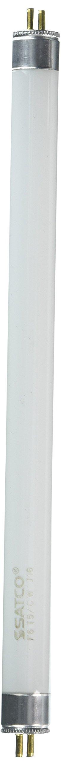 Satco S1902 4100K 6-Watt Mini Bi Pin T5 Preheat Lamp, Cool White