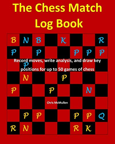 The Chess Match Log Book: Record Moves, Write Analysis, And Draw Key Positions For Up To 50 Games Of Chess