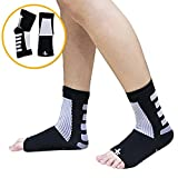 Fast Relief from Plantar Fasciitis | Swelling | 3 Pairs|Foot Pain & Promotes Blood Circulation | Open Toed Compression Sleeve Sock (L/XL, Black)