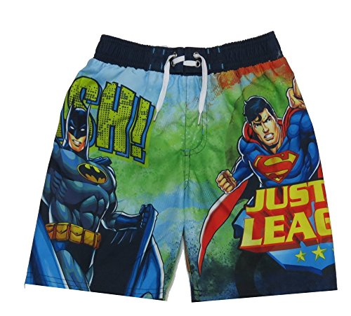Kids Boys Batman Justice League Swimsuit Trunks Short Size Small - League Shoes Justice