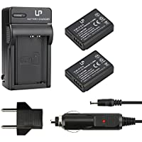 LP-E10 Battery (2-Pack) and Charger for Canon EOS Rebel T3, T5, T6, 1100D, 1200D, 1300D, Kiss X50, X70 Cameras | Rechargeable Li-Ion Battery