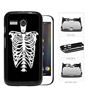 Rib Cage Skeleton Black And White Hard Plastic Snap On Cell Phone Case Motorola Moto G