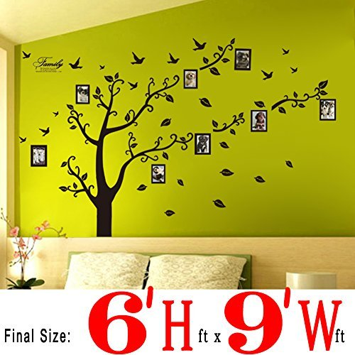 9 w  Huge Size Family Photo Frame Tree Quote Picture Removable Wall  Decor Art Stickers Vinyl Decals Home Decor Include 11birds for Living  Room bedroomPhoto Wall Frames for Living Room  Amazon com. Frames For Living Room. Home Design Ideas