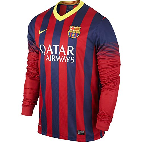 Long Sleeve Replica Jersey - Nike FC Barcelona Long Sleeve HOME REPLICA JERSEY (MIDNIGHT NAVY) (XL)