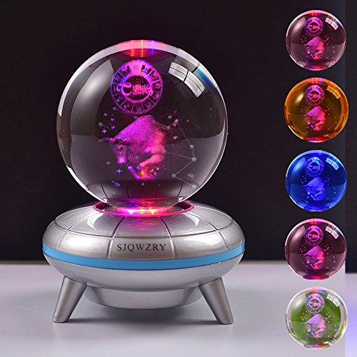 (12 Constellation 3D LED Night Light 7 Colors Optical Illusion Lamp for Home Party Festival Decor Great Gift)