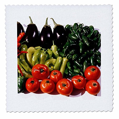 Serrano Jalapeno Peppers (3dRose qs_91335_3 Minnesota, Agriculture, Tomatoes, Peppers, Eggplant US24 BFR0151 Bernard Friel Quilt Square, 8 by)