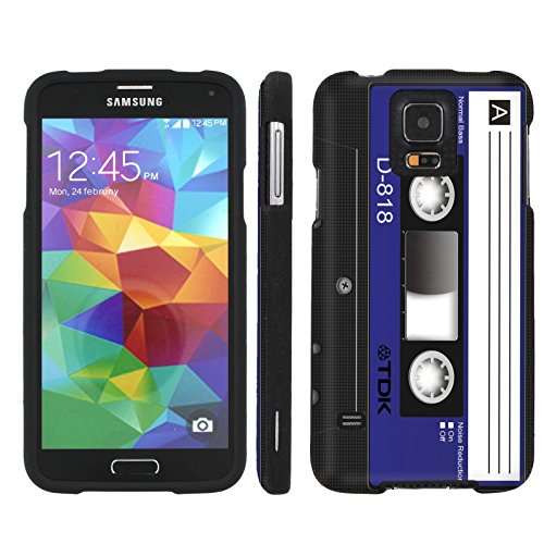 [ArmorXtreme] Case for Samsung Galaxy S5 [Designer Image Shell Hard Cover Case] - [Cassette Blue] (Cassette Case Galaxy S5)