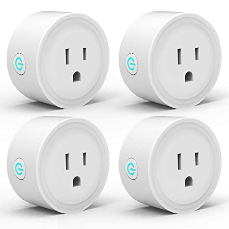 Smart Plug WiFi Outlet 4 Pack Work with Alexa Google Home/IFTTT, Smart Life  APP Remote Control Socket Timer/ON/OFF Light/Home Device, ETL FCC