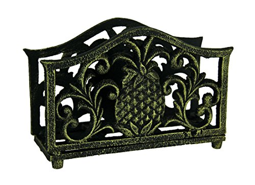 Cast Iron Filigree - Pineapple Filigree Napkin Holder Bronzed Cast Iron