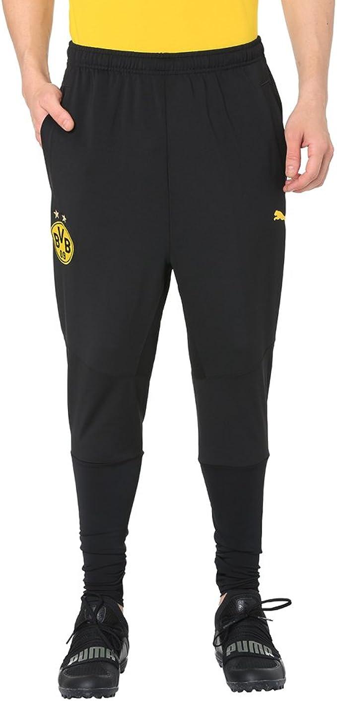 Puma BVB Training Tapered Pantalones, Hombre: Amazon.es ...