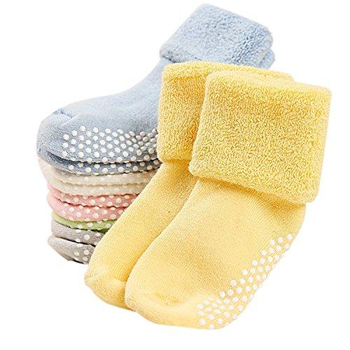 G&M 6 Pairs Baby Anti Slip Socks Toddler Thick