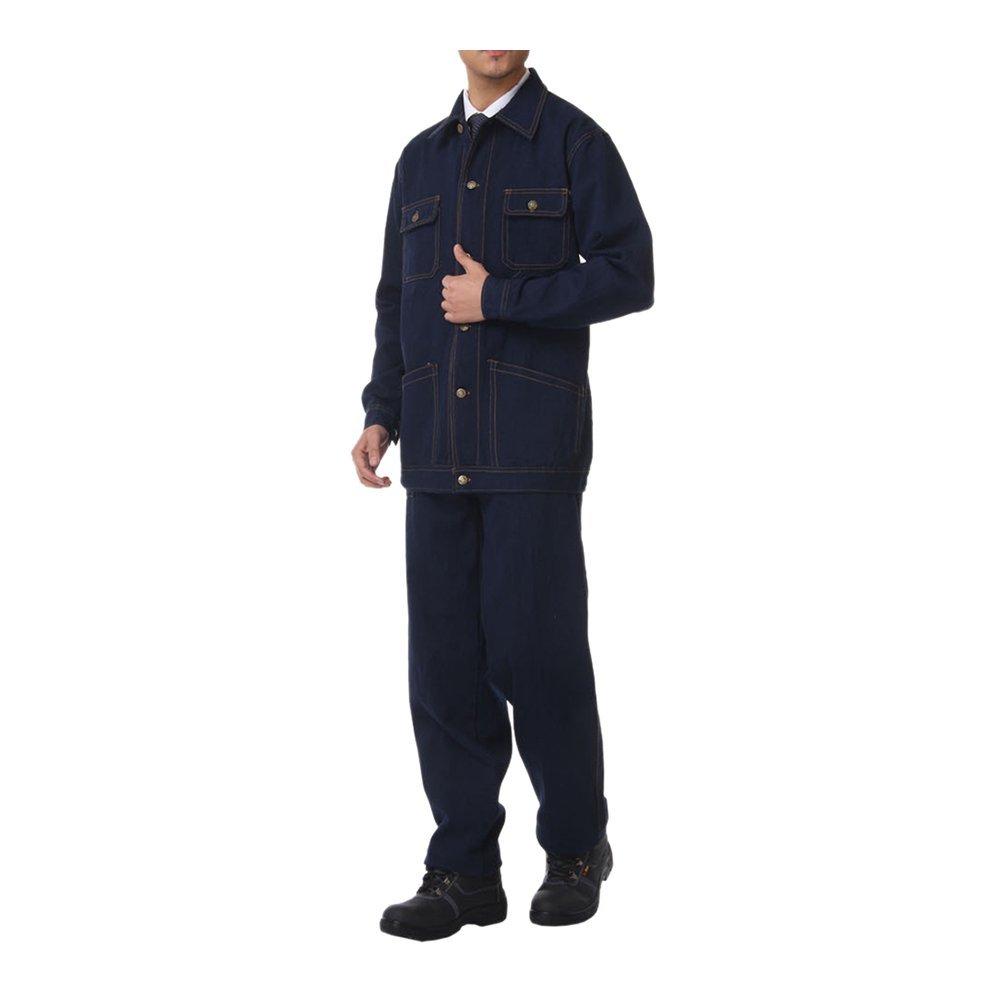 015 bolsillo pantalones vaqueros Jeans traje chaqueta de trabajo protección uniforme traje chaqueta soldador soldadura soldador ropa Invierno185: Amazon.es: ...