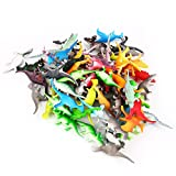 Acekid 72PCS Mini Dinosaurs Toys Set Realistic Looking Dinosaur PVC Plastic Assorted Educational Toy for Kids Party Favor Gift Set