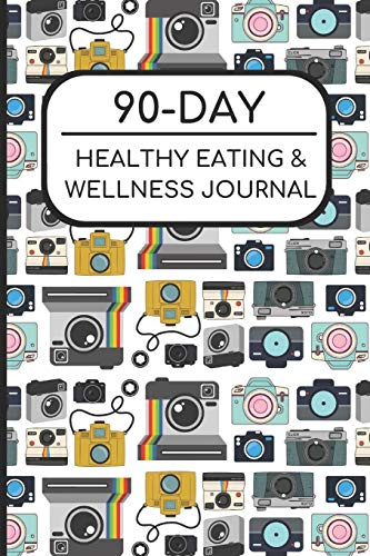 90-Day Healthy Eating and Wellness Journal: Photography Digital Cameras Cover, Workout Fitness Nutrition Weight Loss Planner with Daily Gratitude por Joanna H Peterson Publishing