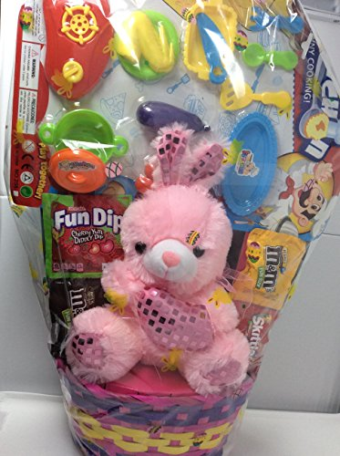 ppy Easter Basket Kids Toddlers Gift Boys Party Pack Pre Made Eggs Goodies Set Toys may vary