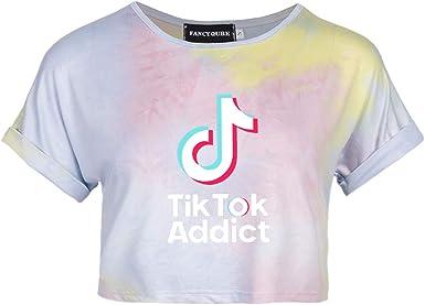Camiseta de manga corta TIK-Tok Tie-Dye para mujer, de Lady Bug: Amazon.es: Ropa y accesorios