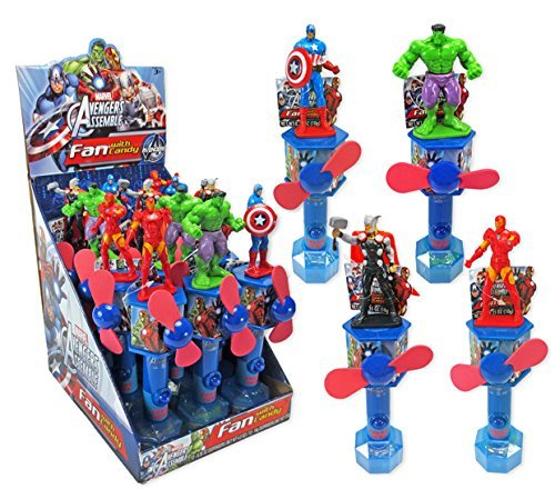 Marvel Avengers Assemble Fan with Candy 12ct by Frankford Candy