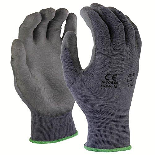 Azusa Safety N10559 13 Gauge Seamless Knit Nylon Safety Gloves, covid 19 (Seamless Knit Nylon Liner coronavirus)