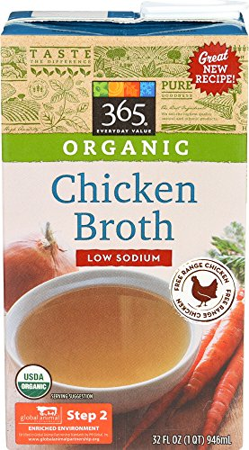 365 Everyday Value, Organic Low Sodium Chicken Broth, 32 oz