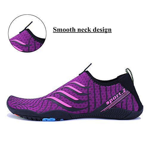 Sports Aqua Men Running Water Pool 3 WXDZ Barefoot Shoes Walking Shoes Beach Socks Women purple Quick Dry Swim gWtff8n