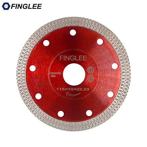 FINGLEE 4.5 Inch Super Thin Diamond Saw Blade for Porcelain Tile Ceramic,Diamond Cutting Blade,with 7/8