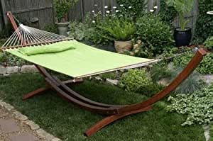 Quilted Fabric Hammock - Lime / Stand Is Sold Separately