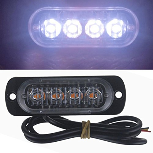 Yeefant amber 4led car flash truck emergency light bar hazard strobe yeefant amber 4led car flash truck emergency light bar hazard strobe warning lamp candid for car truck motorcycles garden aloadofball Choice Image