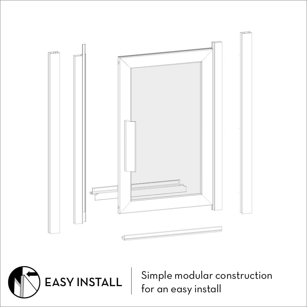 Coastal Shower Doors P33 75o C Paragon Series Framed Continuous Hinged Shower Door In Aquatex Glass 33 X 75 Matte Black Amazon Com