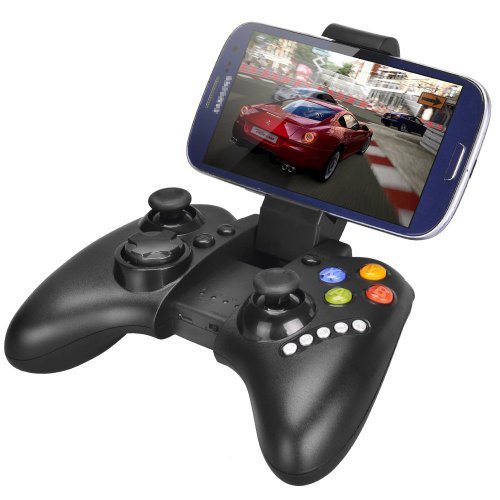 Megadream Wireless Android Game Controller Gamepad Joystick with Clamp Holder for Samsung Galaxy S9 S8 S7 S6 Note 9 8