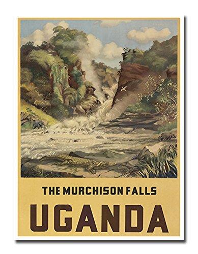 (Uganda Poster Vintage Travel Art Retro Print Africa 12x16