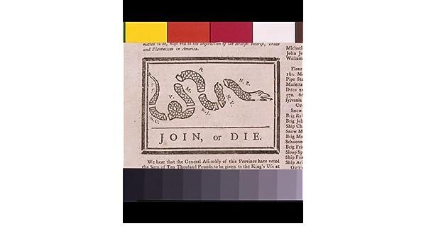 Infinite Photographs Foto: Advertencia de Benjamin Franklin, colonias británicas, unirse o morir. Tamaño: 8 x 10 (aprox.): Amazon.es: Hogar