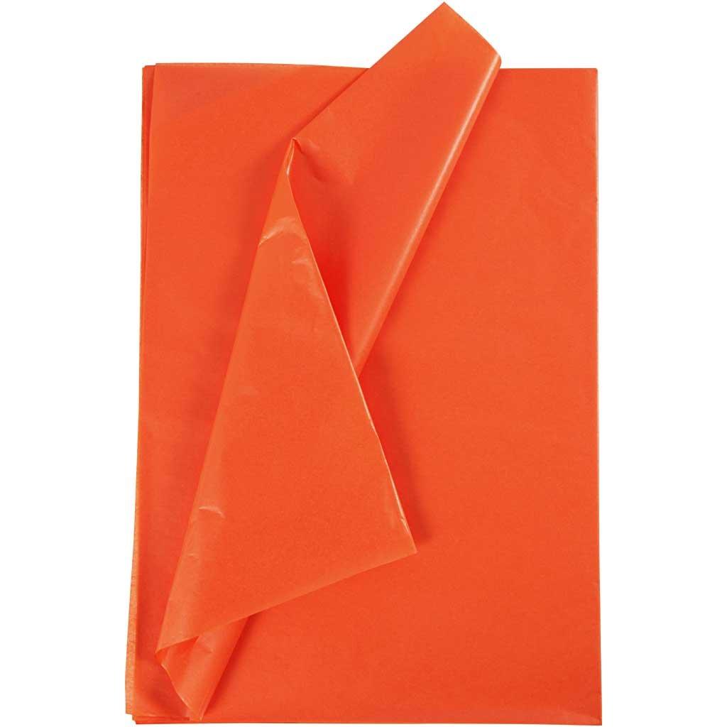 Carta velina, foglio 50x70 cm, 17 cm, arancio, 25fogli Creativ Company