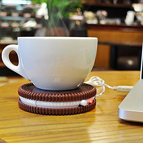 [해외]홈 갤러리 HK USB 전원 쿠키 머그컵 (브라운)/Home Gallery HK USB Powered Cookie Mug Warmer (Brown)