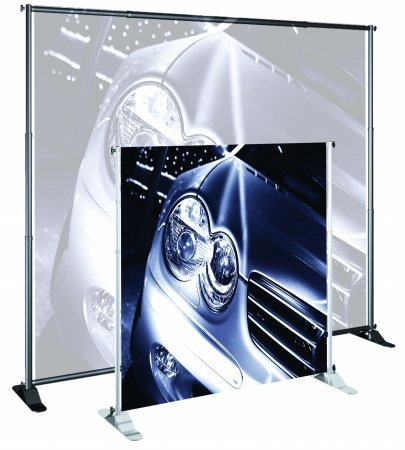 Banner Stand Classic (for Large Format Graphics) Width: 48-96'', Color: Silver by Testrite